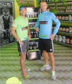 Damien Boutellier et Kevin Coma (de gauche à droite) s'élanceront demain pour un ultra-trail australien long de 100 kilomètres.