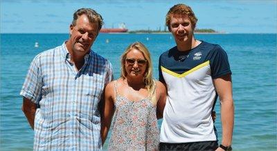 Les trois Australiens ont déjà repéré la traversée qu'ils vont effectuer, ce dimanche. Ridge Grimsey (à droite), présélectionné en équipe olympique, sera d'ailleurs à surveiller de près.