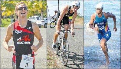Les triathlètes Mathieu Szalamacha, David Beaumont et Charlotte Robin et la sélection calédonienne qu'ils devraient intégrer seront favoris pour gagner la médaille d'or aux Jeux.