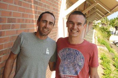 Nouméa, hier. Oswald Cochereau et Ludovic Lanceleur se retrouveront demain sur les 80 km du Trail des Cagous.